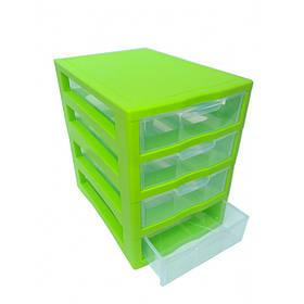 "Комод-мини пластиковый 4 яруса 27 Х 19 Х 27 см ""Алеана"" зеленый 127015"
