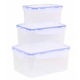 Набор прямоугольных контейнеров для пищевых продуктов 3в1 Алеана 167040