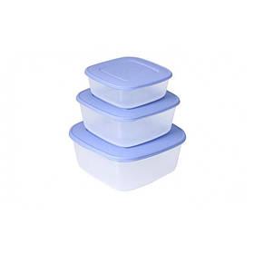 Набор квадратных контейнеров для пищевых продуктов Алеана 3 в 1 167010