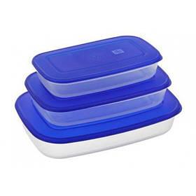 Набор прямоугольных контейнеров для пищевых продуктов 3 шт Алеана 167020