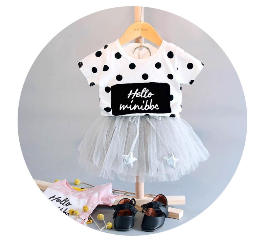 Нарядный летний костюм  на девочку футболка+юбка  1-3  года