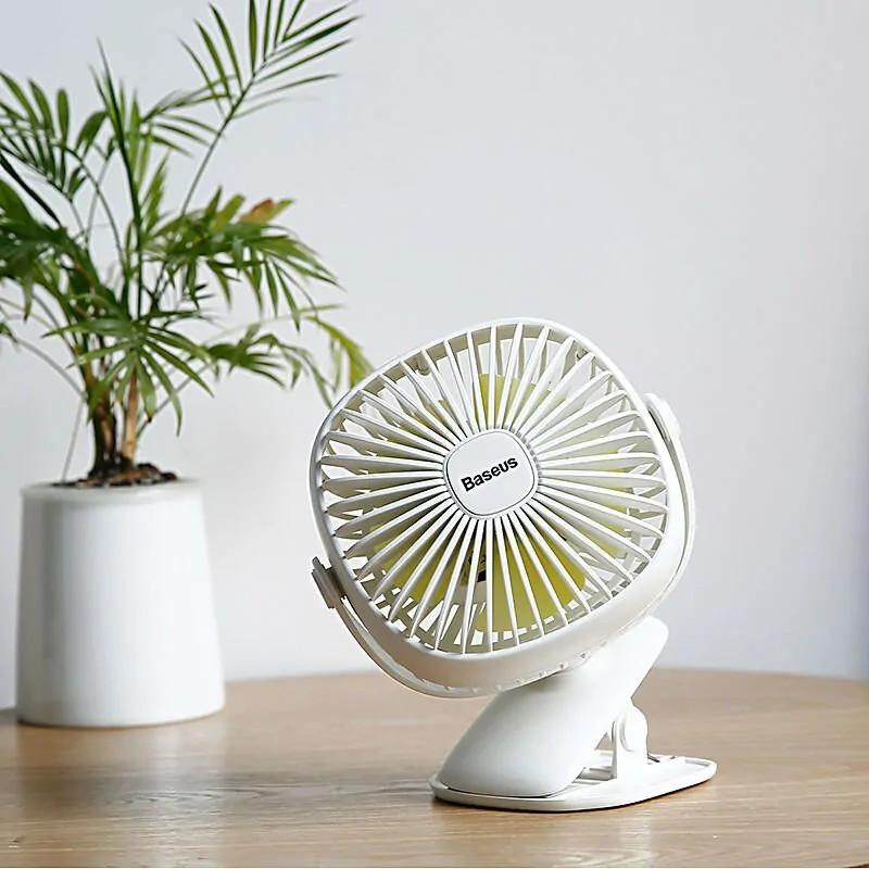 Вентилятор-прищепка портативный BASEUS Box Clamping Fan 360. Аккумуляторный вентилятор с прищепкой