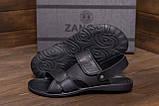 Мужские кожаные сандалии CARDIO Black, фото 7