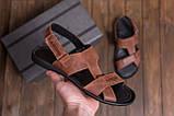 Чоловічі шкіряні сандалі KARDIO Brown ., фото 10