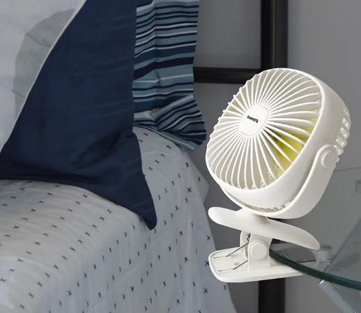 Вентилятор-прищепка портативный BASEUS Box Clamping Fan 360