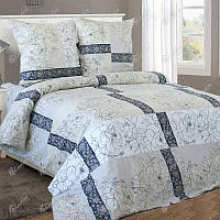 Полуторное постельное белье бязь гост бежевое розы ТМ Блакит  хлопок 120 г/м. кв.