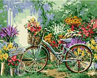 """Картина по номерам """"Велосипед в цветах"""" 40х50 см 12501"""