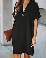 Платье женское элегантное чёрное 42-46,48-52