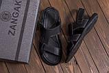Мужские кожаные сандалии CARDIO Black, фото 8