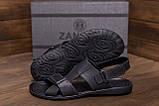 Мужские кожаные сандалии CARDIO Black, фото 9