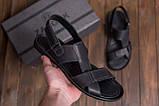 Мужские кожаные сандалии CARDIO Black, фото 10