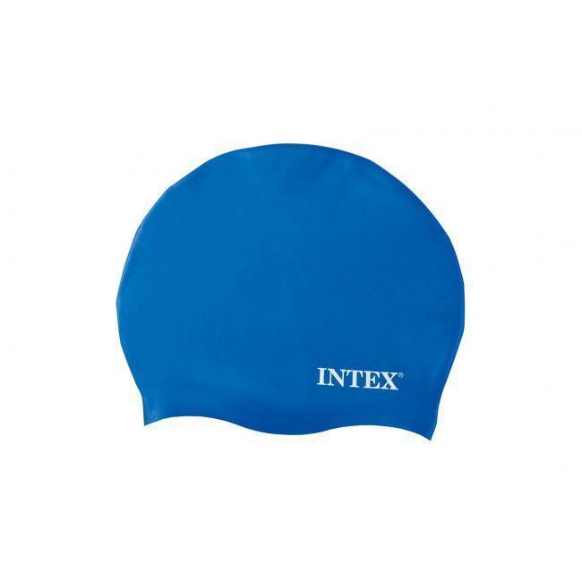 Шапочка для плавания Intex 55991 Silicone Swim Cap Синий (int_55991-2)