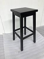 Табурет стул барный для кухни или кафе деревянный квадратный Рускополянский Мебельный Комбинат