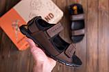 Чоловічі шкіряні сандалі AND Wofstep Brown, фото 7