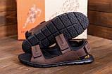 Чоловічі шкіряні сандалі AND Wofstep Brown, фото 8