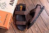 Чоловічі шкіряні сандалі AND Wofstep Brown, фото 10