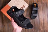 Мужские кожаные сандалии  AND Wolfstep Black (реплика), фото 7