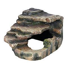 Декорация для террариума Trixie Грот угловой со ступеньками 16 x 12 x 15 см (пластик)