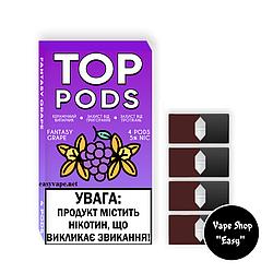 Универсальные сменные картриджи Top Pods Fantasy Grape для Джул, OVNS.
