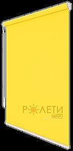 Ролета тканевая Е-Mini Лен 858 Желтый