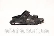Мужские черные сандалии, босоножки из натуральной кожи. ANDANTE. Размеры 40-45.