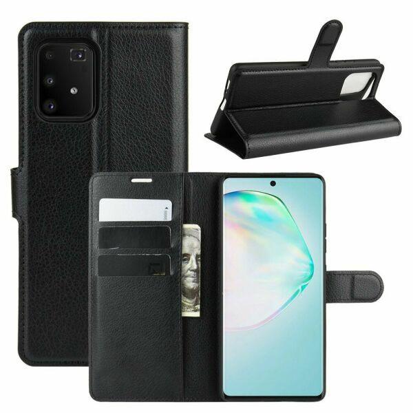 Чехол Luxury для Samsung Galaxy S10 Lite (G770) книжка черный