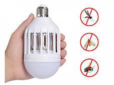 Антимоскитная лампа Zapp Light LED уничтожитель комаров и насекомых светодиодная лампа 2 в 1, фото 2