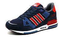 Кроссовки Adidas ZX750 мужские, комбинированные, темно-синие, р. 43 45