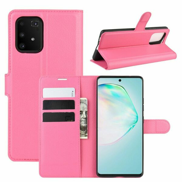 Чехол Luxury для Samsung Galaxy S10 Lite (G770) книжка розовый