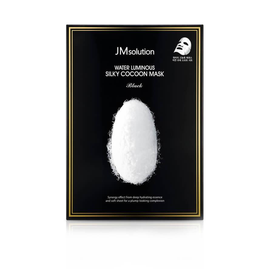 Тканевая маска с протеинами шелка JM Solution Water Luminous Silky Cocoon Mask Black
