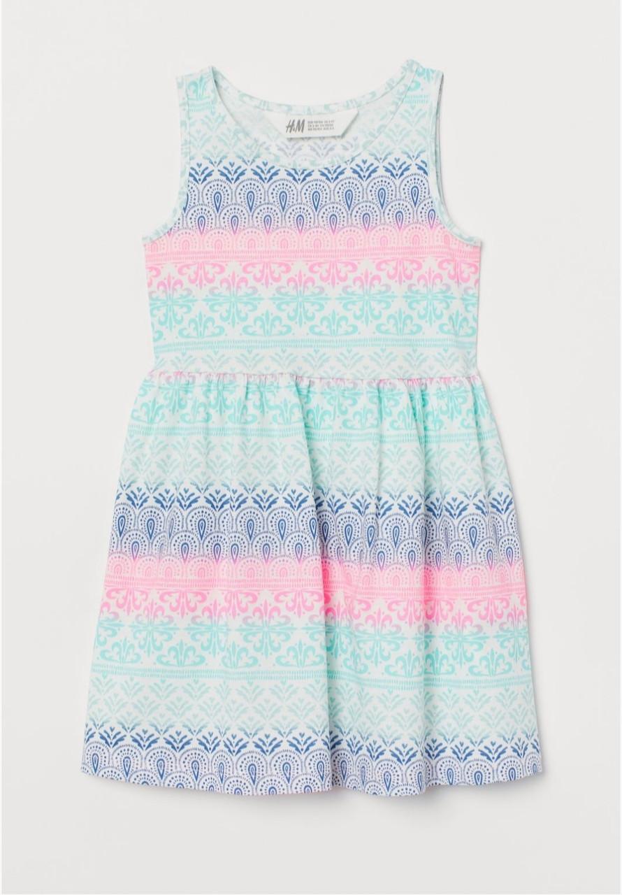 Платье для девочки летнее разноцветное  р.98/104, 110/116, 122/128см