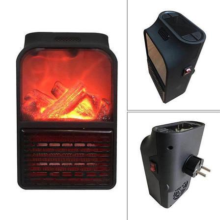 Дистанционный портативный обогреватель с LCD дисплеем и имитацией камина FLAME HEATER 1000 ВТ PR3, фото 2