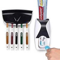 Автоматический диспенсер для зубной пасты с подставкой для щеток | Настенный дозатор зубной пасты PR1