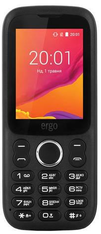 Мобільний телефон ERGO F241 Talk Dual Sim (чорний), фото 2