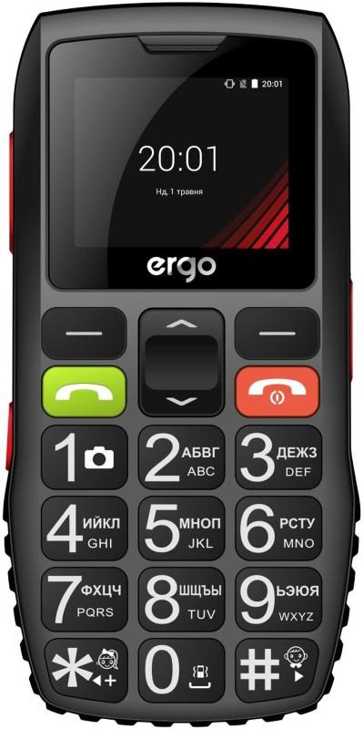 Мобільний телефон ERGO F184 Respect Dual Sim (чорний)
