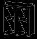 Шкаф пенал низкий Гранд МДФ 24\506 (800х400х885)