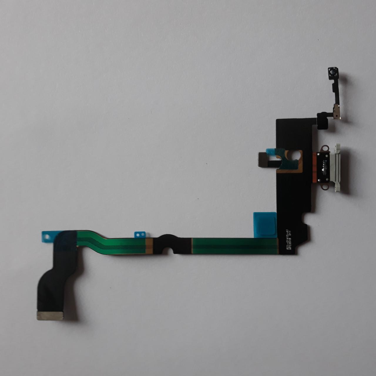 Шлейф Apple iPhone XS Max коннектора навушників, коннектора зарядки White