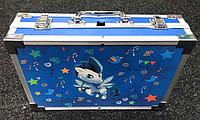 Набор для детского творчества в чемодане из 145 предметов | Чемоданчик юного художника