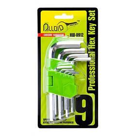 Alloid. Набор ключей шестигранных, изогнутых. 9 предм. 1,5-10 мм. (НШ-0912) (НШ-0912)