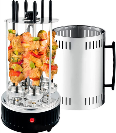 Шашлычница вертикальная электрическая Kebabs Machine на 6 шампуров 1000W, фото 2