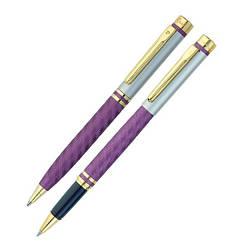 """Набор: ручка шариковая + роллер """"Pierre Cardin"""" фиолетового цвета"""