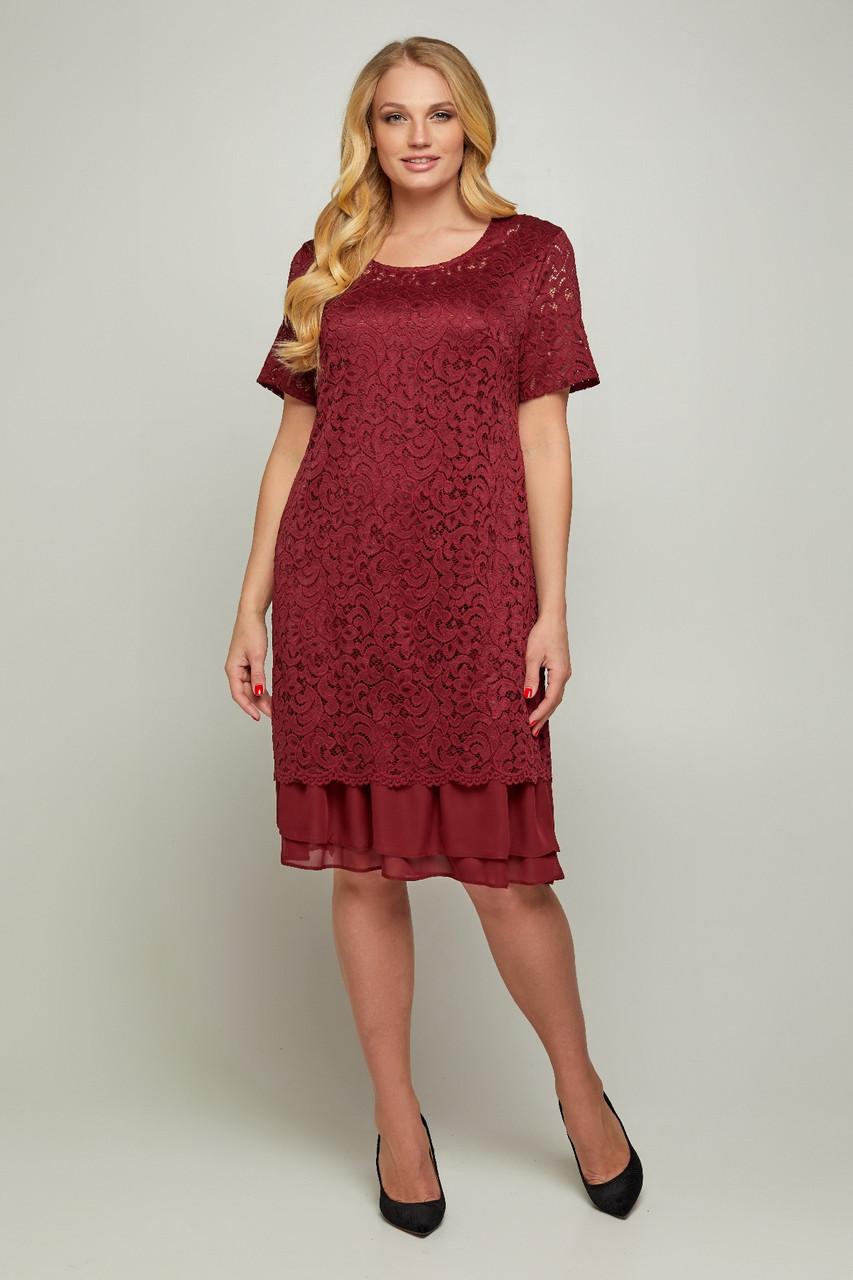Женское платье Дана из гипюра больших размеров 50-56
