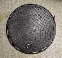 Люк канализационный садовый черный без замка