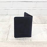 Кардхолдер cardholder синий из натуральной кожи crazy horse, фото 6