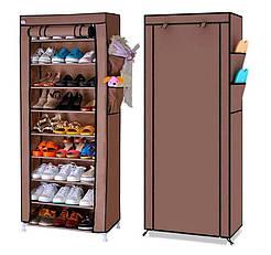 Стелаж для хранения обуви Shoe Cabinet 160X60Х30  Полка для обуви  Тканевый стелаж для обуви