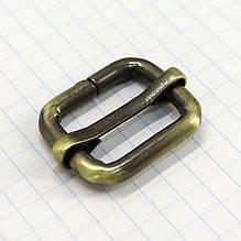 Регулятор пряжка перетяжка 20 мм антик для сумок a5992 (10 шт.)