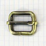 Регулятор пряжка перетяжка 20 мм антик для сумок a5992 (10 шт.), фото 2