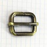 Регулятор пряжка перетяжка 20 мм антик для сумок a5992 (10 шт.), фото 3