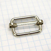 Регулятор пряжка перетяжка 20 мм никель для сумок a6002 (200 шт.)