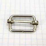 Регулятор 20 мм никель для сумок a6002 (100 шт.), фото 2
